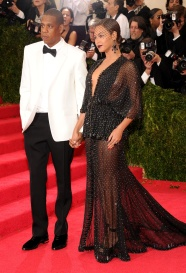 Love the whole power couple theme that went on at the Met Gala, and you can't deny how stunning this pair is. But I can't help but think that I've seen Beyonce in this exact style of dress year after year. { Givenchy Couture }