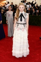 "Much respect to Chanel & Chloe Grace Moretz, but I wasn't a fan of this. Just a bit too much frou-frou and ""little girl"" details. { Chanel Couture }"