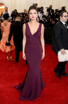 I think Selena Gomez looks best in these grown-up dresses that she's been wearing lately. She rocks dark, rich hues, and looks gorgeous. { Diane von Furstenberg }