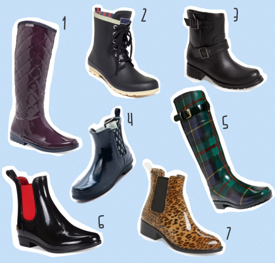 Round-Up: Stylish Rain Boots | Striped Flats